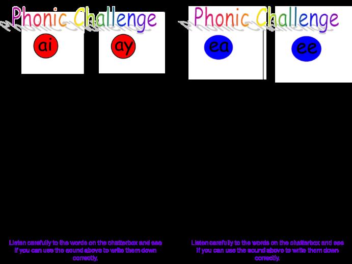 Phonics Challenge Cards
