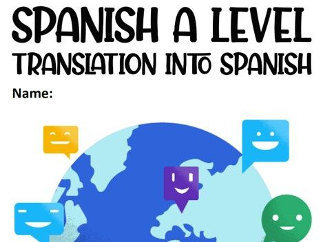 A level translation from English into Spanish (AQA)