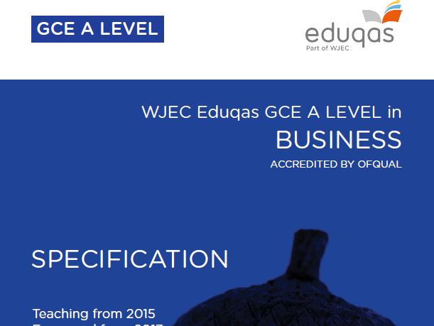 AS/A-Level Business Studies (Eduqas): Markets