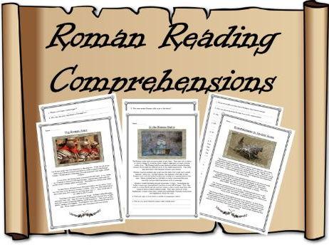 Roman Reading Comprehensions – Romans , Activity, Worksheet, Army, Baths, Entertainment, KS2