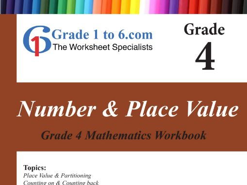 Number & Place Value Grade 4 Maths Workbook from www.Grade1to6.com Books