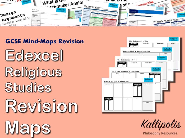 Edexcel GCSE  Religious Studies Revision Pack - Blank Mind-Map Handouts
