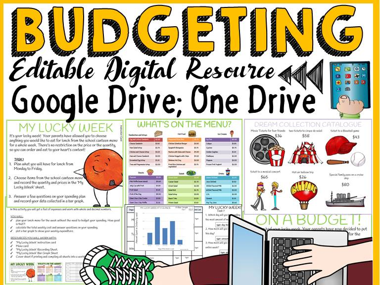 DIGITAL BUDGETING: FINANCIAL PLANNING: GOOGLE DRIVE:GOOGLE SLIDES (EDITABLE)