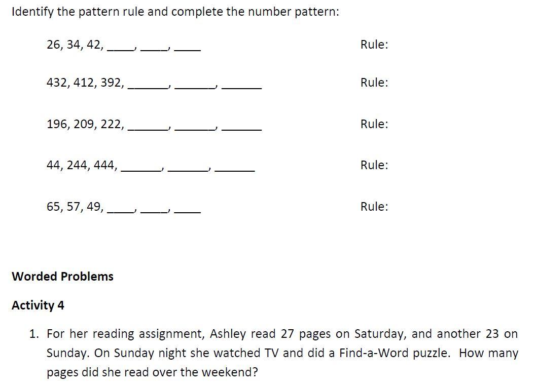 Grade 3 Number Workbook