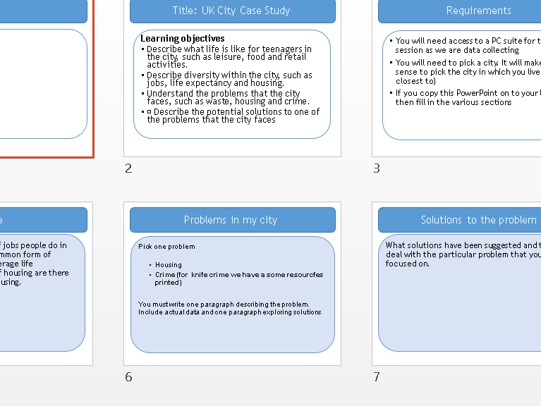 City Case Study   London knife crime - Geography Entry Level Topic 1 - Our World  - OCR R407