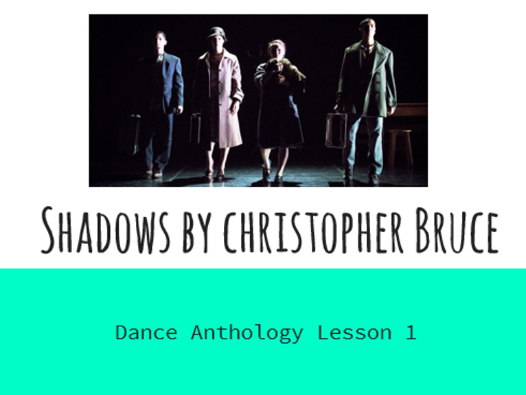 GCSE Dance Shadows Lesson 1