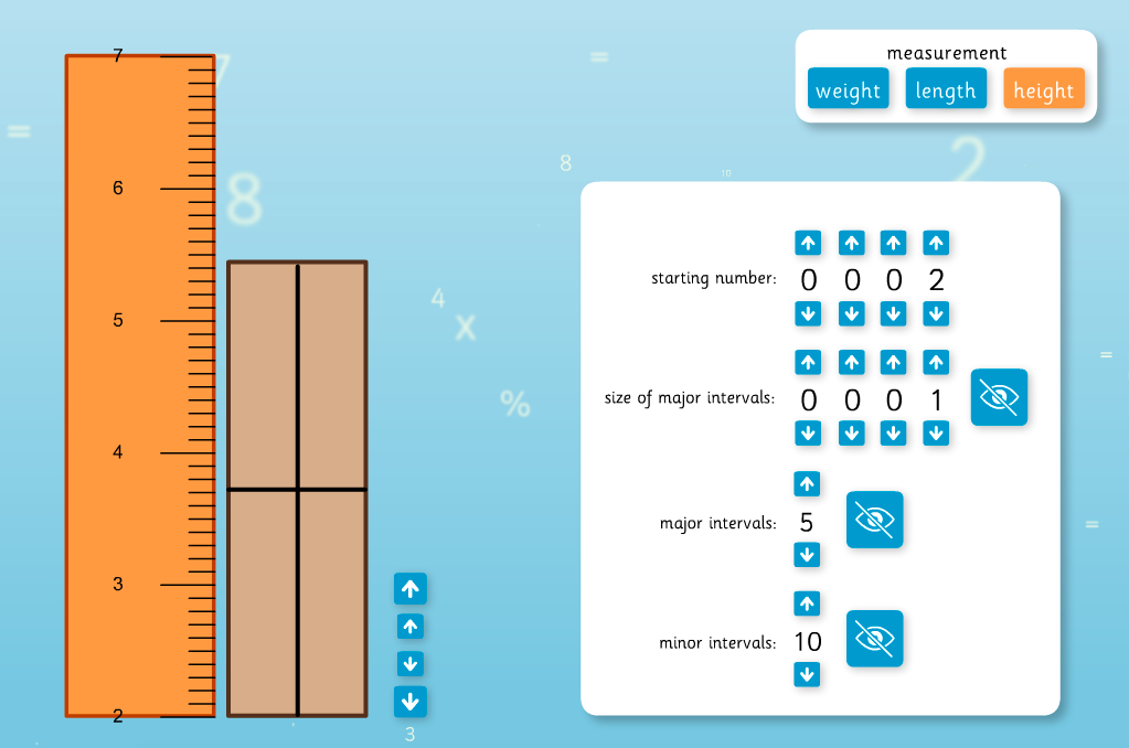 Scale Intervals Interactive Tool - KS2 Measurement