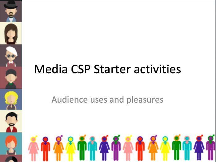 AQA MEDIA STUDIES GCSE CSP TARGET AUDIENCE STARTERS PACK