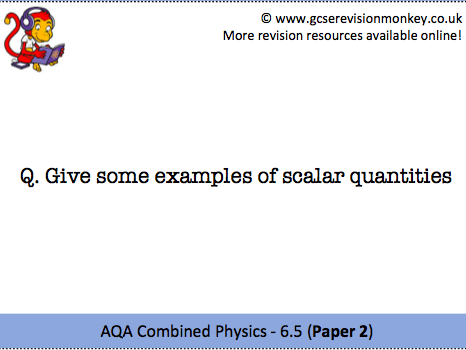 Revision Cards - AQA Combined Physics 6.5