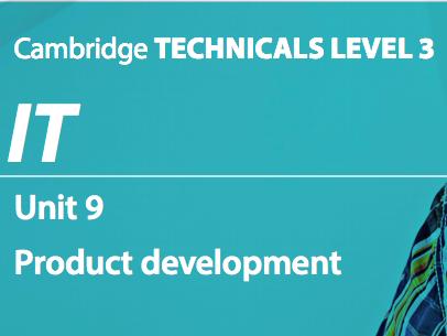 Unit 9 - Product Development 2016 (P1)