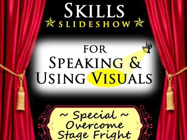 Oral Communication Presentation Skills ~ Speaking & Using Visual Aids Slideshow