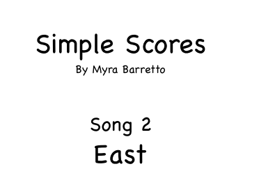 Simple Scores. An easy arrangement for beginner orchestra. 2. East