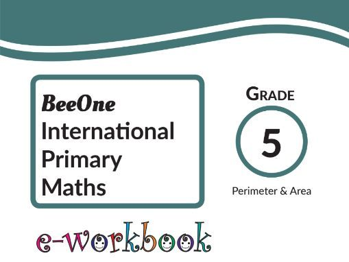 Grade 5 Area& Perimeter, 21 Worksheets from BeeOne Books