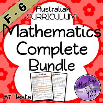F-6 Mathematics Test Bundle - Australian Curriculum