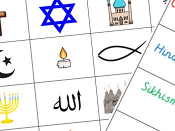 RE - religious symbol match activity