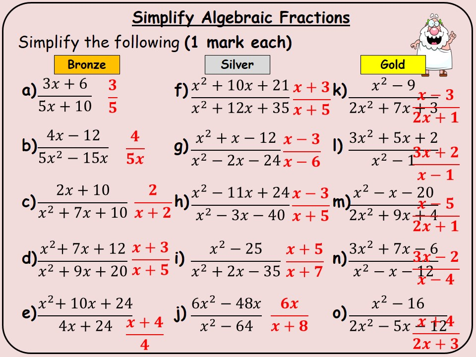 50 Maths Topics - Differentiated Powerpoint Questions to Project