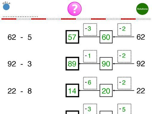 Subtraction bridging 10 to 100 Worksheets