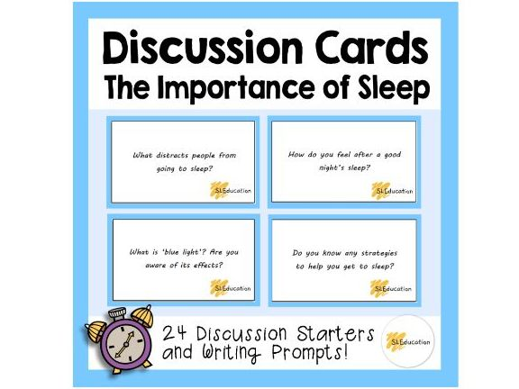 Discussion Cards | The Importance of Sleep