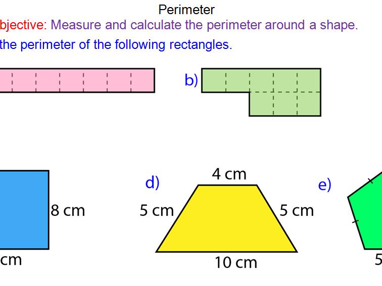 Perimeter of Shapes Foundation GCSE Lesson