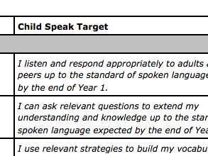 2014 National Curriculum Speaking & Listening Objectives and Child Speak Targets for Years 1-6
