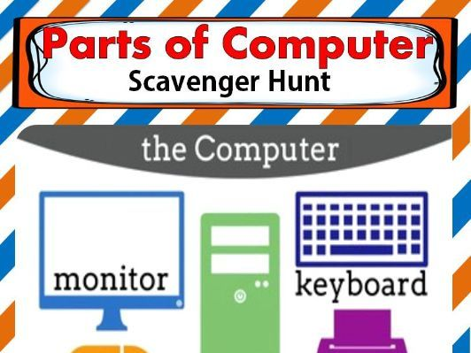 Parts of Computer Scavenger Hunt