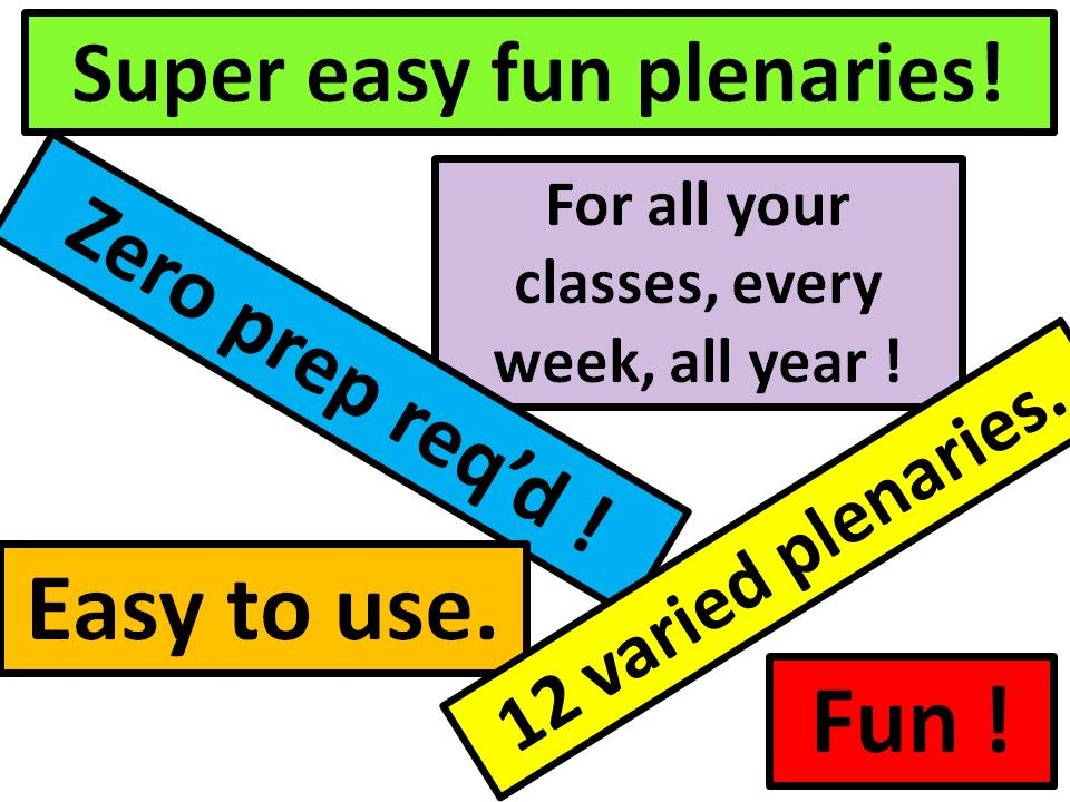 plenaries - super easy and fun