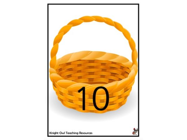 Easter Eggs in Basket Game (0-10)