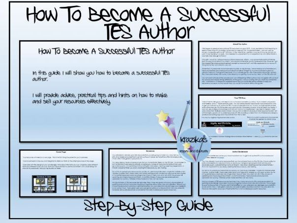 TES Authors: How to Become a Successful TES Author
