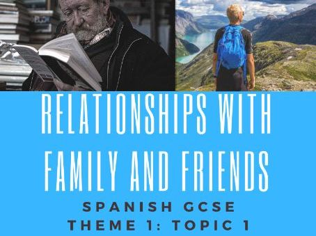 Relationships with  family and friends Translation: GCSE Spanish Theme 1 :Topic 1
