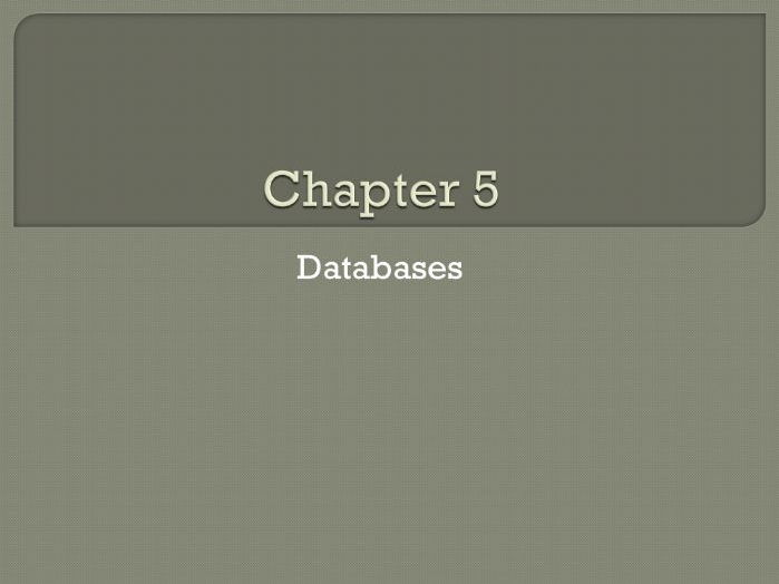 GCSE Computing: Chapter 5 - Databases (Revision)