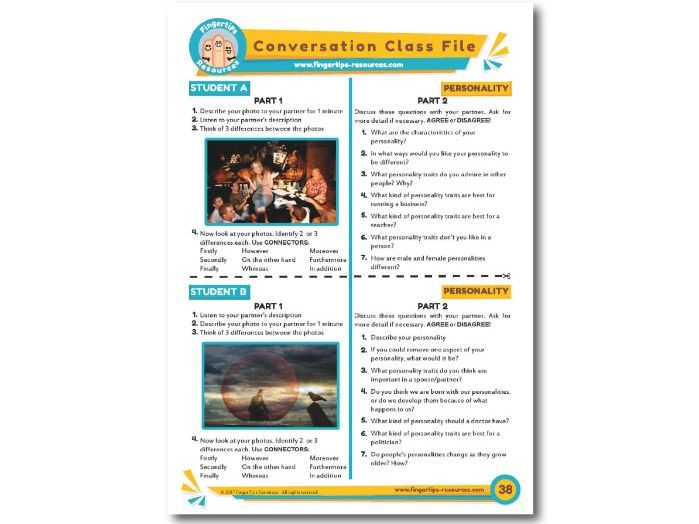 Personality - ESL Conversation Activity