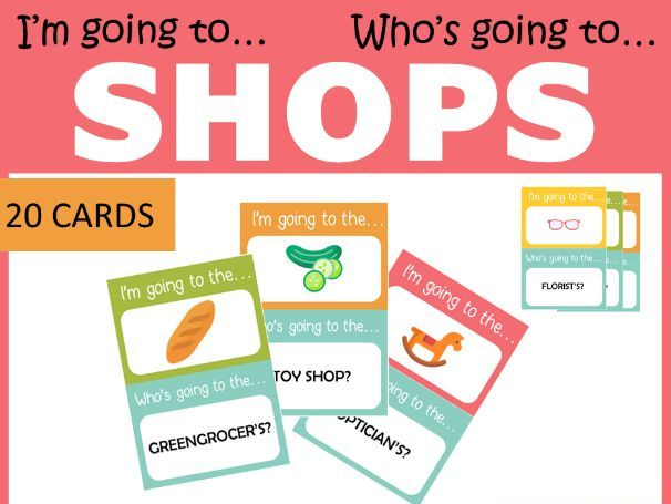 SHOPS I'm going to.../Who's going to...? Game