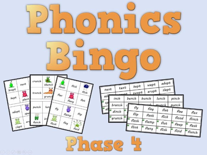 Phonics Bingo – Phase 4