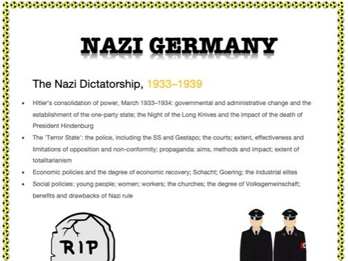AN EASY GUIDE TO AN A*: A-LEVEL: THE NAZI DICTATORSHIP 1933-1939