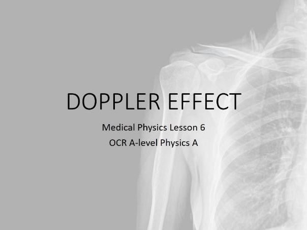 Doppler ultrasound (A-level Medical Physics)