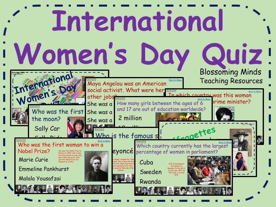 International Women's Day Quiz - 60 questions (Women's History Month)
