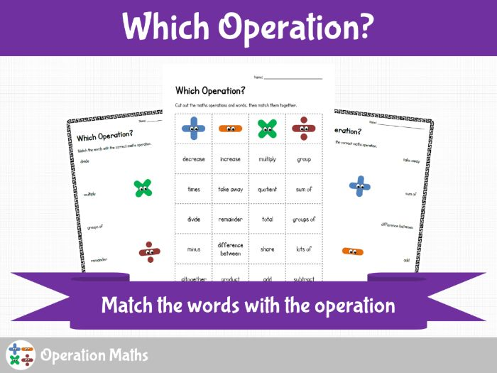 Maths Operations - Which Operation?