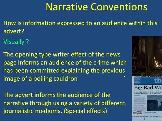 Narrative Btec Tech Media
