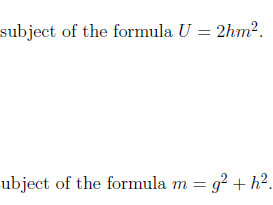 Changing the subject of a formula worksheet (with solutions)