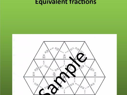 Equivalent fractions – Math puzzle