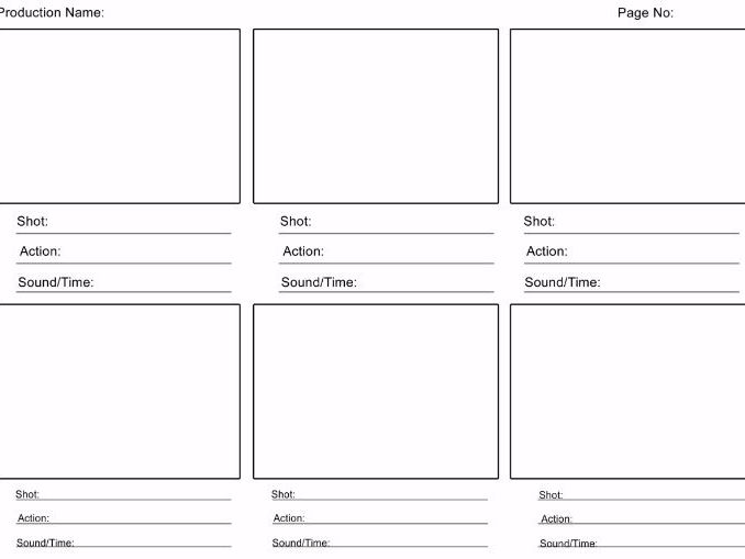 Media Storyboard Template. Blank Storyboard Templates In Four