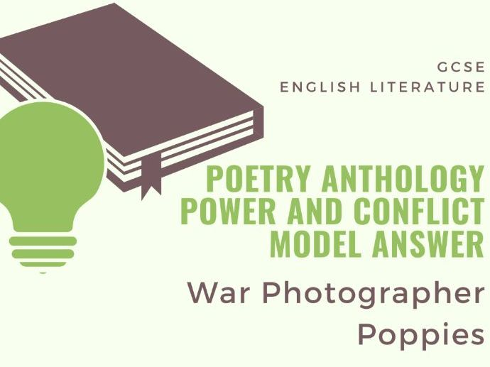 Model Answer: Comparing War Photographer and Poppies
