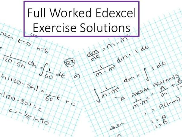 Modelling with Differential Equations Full Worked Solutions Ex11K Edexcel Integration