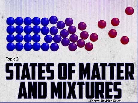 States of Matter and Mixtures Knowledge Check GCSE 2016