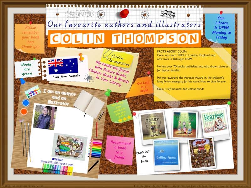 Library Poster - Colin Thompson Australian Children's Author