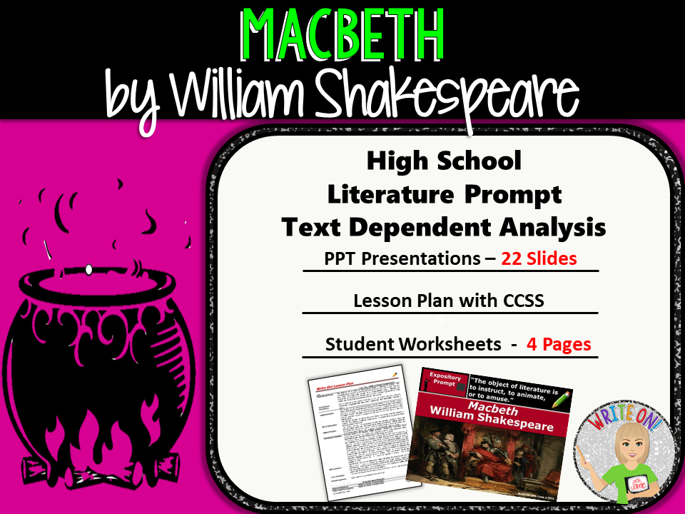 Macbeth by William Shakespeare - Text Dependent Analysis Expository Writing