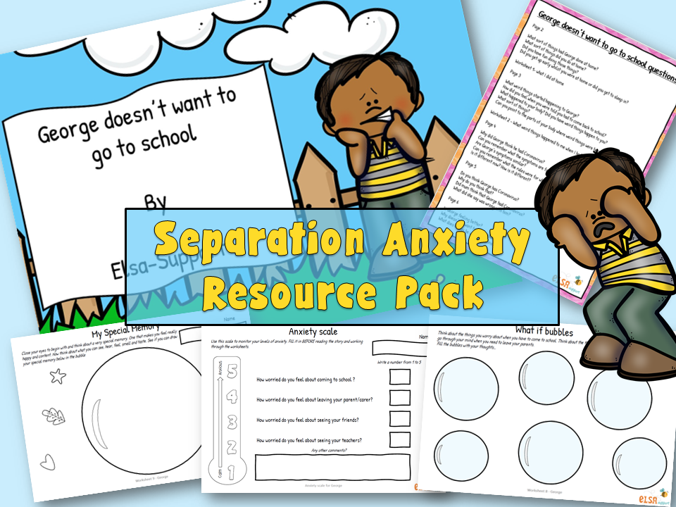 Home learning - Separation anxiety Resource pack