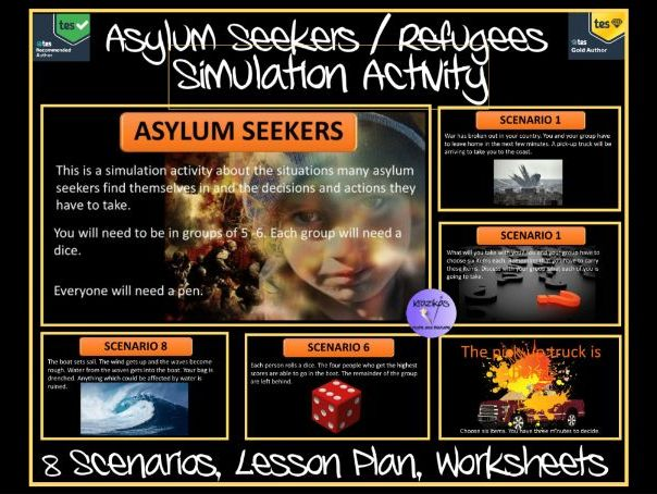 Refugee Week: Refugee Simulation Activity Pack - 8 Scenarios, Lesson, Presentation, Worksheets