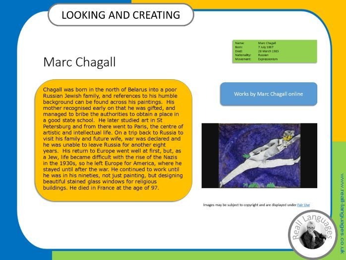 Marc Chagall.  Looking and Creating: activities inspired by artists