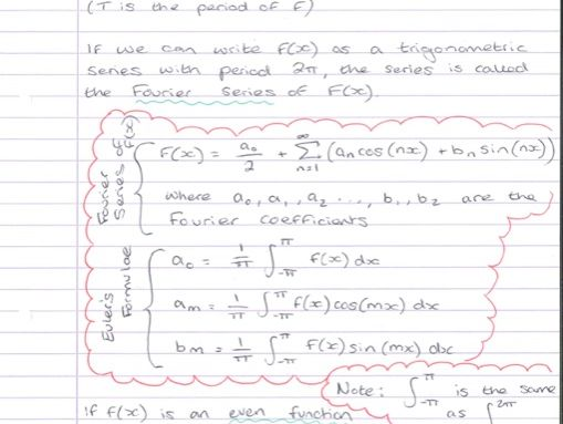 Fourier Series Summary Notes